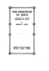 The Principles of Jesus Applied to Some Questions of Today