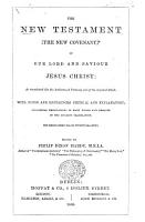 The New Testament     in the Authorized Version      With Notes and References Critical and Explanatory     Edited by Philip Dixon Hardy   A Specimen  Containing Matthew and Romans  of the Edition Published in 1874   PDF