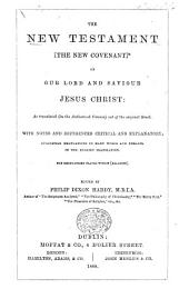 The New Testament ... in the Authorized Version- ... With Notes and References Critical and Explanatory ... Edited by Philip Dixon Hardy. [A Specimen, Containing Matthew and Romans, of the Edition Published in 1874.]