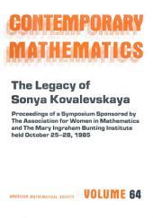 The Legacy of Sonya Kovalevskaya: Proceedings of a Symposium