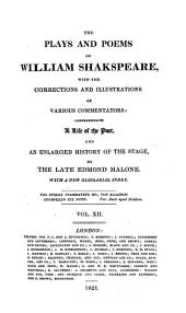 The Plays and Poems of William Shakspeare: Volume 12
