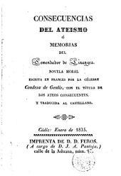 Consecuencias del ateismo, ó, Memorias del Comendador de Linanges: novela moral