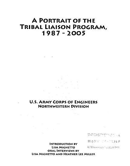 A portrait of the Tribal Liaison Program  1987 2005 PDF
