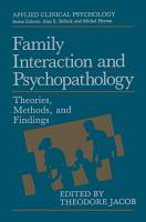 Family Interaction and Psychopathology PDF