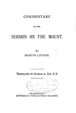 Commentary on the Sermon on the Mount PDF