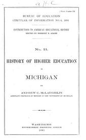 History of Higher Education in Michigan: Volume 370