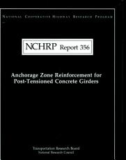 Anchorage Zone Reinforcement for Post tensioned Concrete Girders PDF