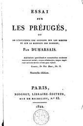 Essai sur les préjugés, ou De l'influence des opinions sur les moeurs et sur le bonheur des hommes, par Dumarsais