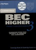Cambridge BEC Higher 3  Self Study Pack  Student s Book  Audio CD  PDF