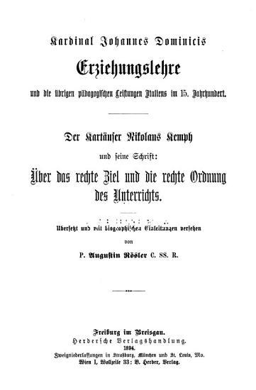 Bibliothek der Katolischen Padagogik PDF
