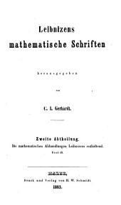 Leibnizens gesammelte Werke