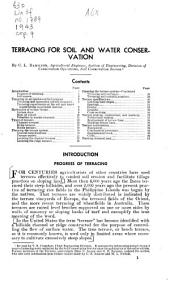 Terracing for soil and water conservation: Issues 1776-1800