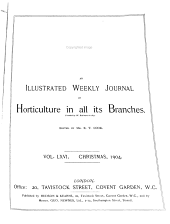 The Garden: An Illustrated Weekly Journal of Gardening in All Its Branches, Volume 66