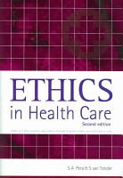 Ethics in Health Care PDF