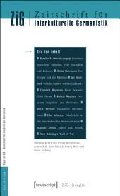 Zeitschrift für interkulturelle Germanistik: 5. Jahrgang, 2014, Ausgabe 1