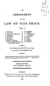 An Abridgment of the Law of Nisi Prius ...