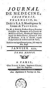 Journal de médecine, de chirurgie et de pharmacie: Volume 37