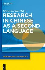 Research in Chinese as a Second Language PDF