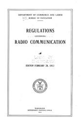 Regulations Governing Radio Communication: Volume 11