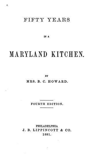 Fifty Years in a Maryland Kitchen PDF