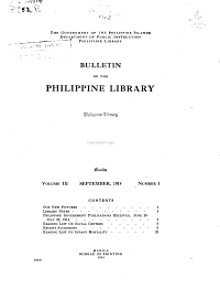 Bulletin of the Philippine Library PDF