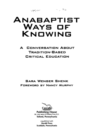 Anabaptist Ways of Knowing