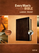 Every Man s Bible Niv  Large Print  Deluxe Explorer Edition  Leatherlike  Rustic Brown  Indexed