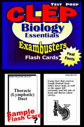 CLEP Biology Test Prep Review--Exambusters Flash Cards: CLEP Exam Study Guide