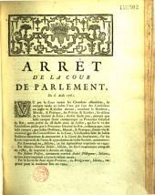 Arrêt... Du 6 août 1761 [Ordre de brûler certains ouvrages écrits par les Jésuites comme séditieux]