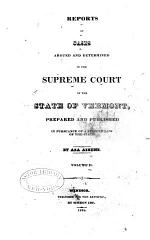 Reports of Cases Argued and Determined in the Supreme Court of ... Vermont