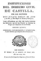 Instituciones del Derecho Civil de Castilla