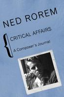 Critical Affairs PDF