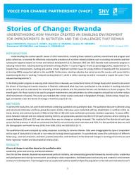Stories of Change  Rwanda  Understanding how Rwanda created an enabling environment for improvements in nutrition and the challenges that remain PDF