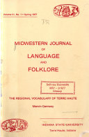 Midwestern Journal of Language and Folklore