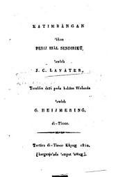 Katimbangan âkan Perij khal sendiriku 'awleh Johann C. Lavater, tersâlin de ̄ri pa ̄da bahâsa Wo ̄landa awleh G. Heijmering di-Timor