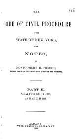 The Code of Civil Procedure of the State of New-York: Volume 2
