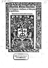 De religione Christiana et fidei pietate opusculum. Xenocrates de morte, eodem interprete