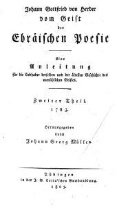 J.G. von Herder's sämmtliche Werke: Band 1,Teil 1