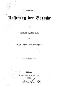 Ueber den Ursprung der Sprache PDF