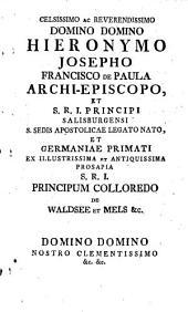 Conspectus et status totius Archi-dioecesis Salisburgensis: 1772