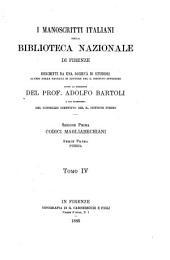 I manoscritti italiani della Biblioteca nazionale di Firenze: Poesia. Ser. 1