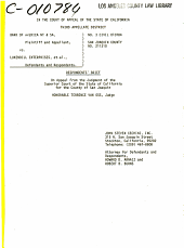 California. Court of Appeal (3rd Appellate District). Records and Briefs: C010784, Respondent Brief