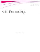 Aslib Proceedings PDF