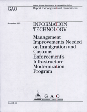Information Technology: Management Improvements Needed on Immigration and Customs Enforcement's Infrastructure Modernization Program