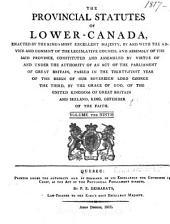 Statuts Provinciaux de Bas-Canada: Volume 9