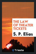 The Law of Theater Tickets PDF