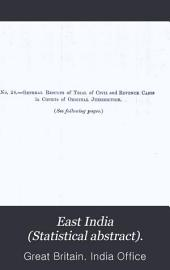 East India (Statistical Abstract).: Statistical Abstract Relating to British India, Volumes 29-32