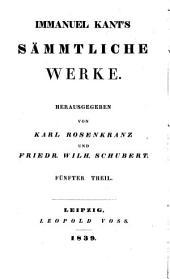 Immanuel Kant's sämmtliche Werke: Th. Schriften zur Philosophie der Natur