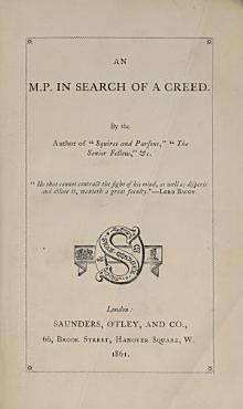 An M P  in Search of a Creed PDF
