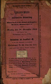 Veilingcatalogus  boeken F  Fertsch  Rosenberg  18 december e v  1854 PDF
